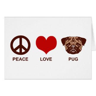 Peace Love Pug Cards