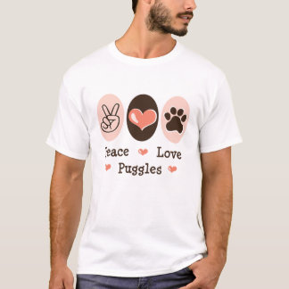 Peace Love Puggles Distressed Tee