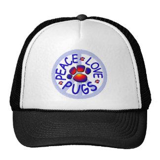"""""""Peace Love Pugs"""" Cap"""