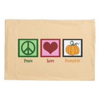 Peace Love Pumpkin Pillowcase