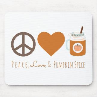 Peace Love & Pumpkin Spice Mason Jar Fall Drink Mouse Pad