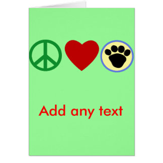 Peace Love Puppy Paws T shirts, Gifts Card