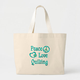 Peace Love Quilting Jumbo Tote Bag