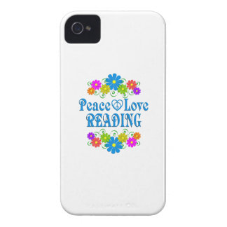 Peace Love Reading iPhone 4 Case-Mate Case