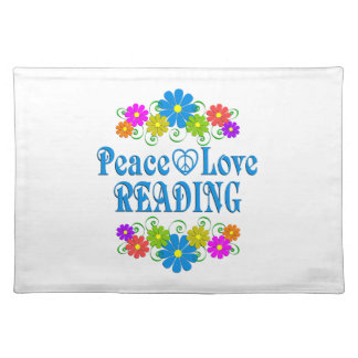 Peace Love Reading Placemat