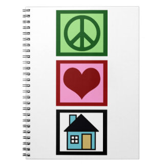 Peace Love Real Estate Notebook