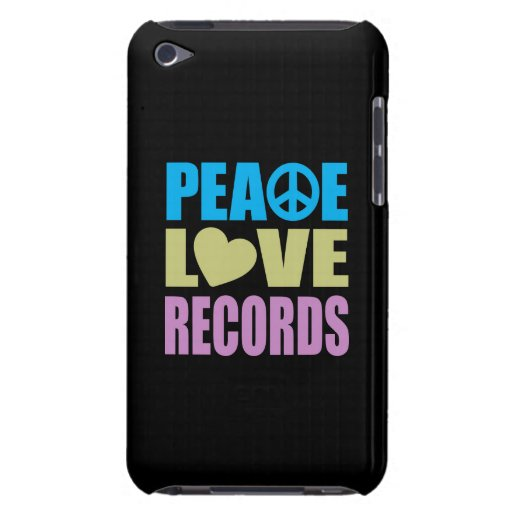 Peace Love Records Barely There iPod Cover