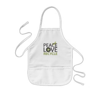 Peace Love Recycle Aprons