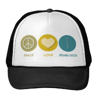 Peace Love Rehabilitation Mesh Hat