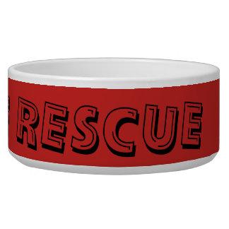 Peace Love Rescue Pet Bowl