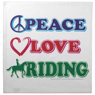 Peace Love Riding Printed Napkin
