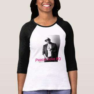 Peace Love RO Ladies 3/4 Sleeve Raglan T-shirt