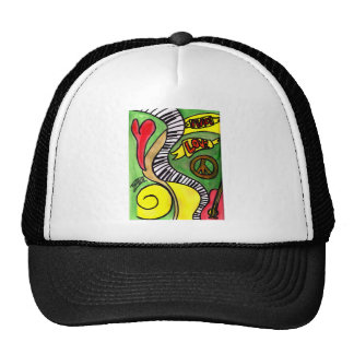 Peace, Love, Rock and Roll Hat