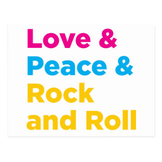 Peace & Love & Rock and Roll Postcard