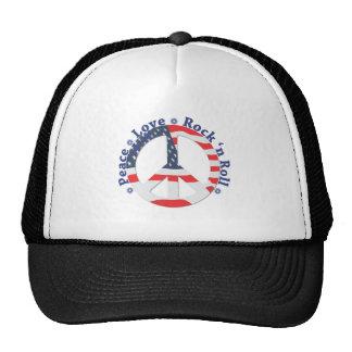 Peace, Love, Rock n Roll Trucker Hat