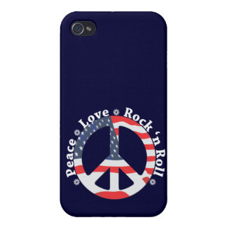Peace, Love, Rock n Roll Cases For iPhone 4