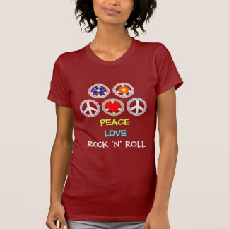 PEACE, LOVE, ROCK 'N' ROLL TEE SHIRT