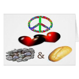 Peace,Love,Rock&Roll Greeting Card