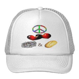 Peace,Love,Rock&Roll Hats