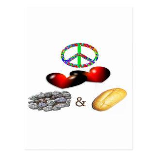 Peace,Love,Rock&Roll Postcard