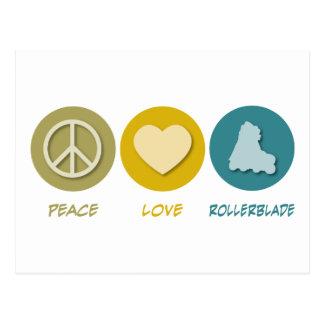 Peace Love Rollerblade Postcard