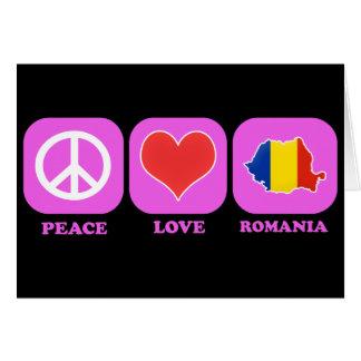 Peace Love Romania Card