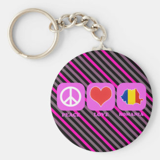 Peace Love Romania Key Ring