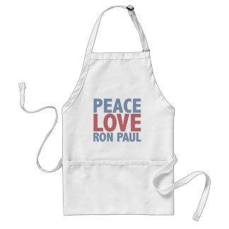 Peace Love Ron Paul Adult Apron