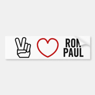 Peace Love Ron Paul Bumper Sticker