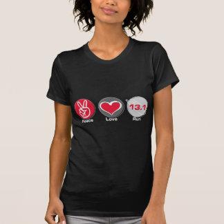 Peace Love Run 13.1 miles T-Shirt