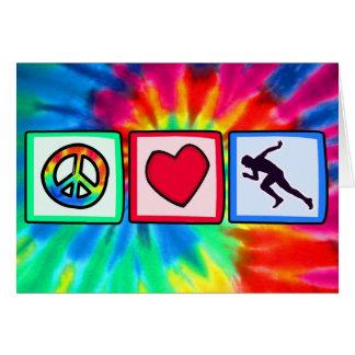 Peace, Love, Run Card