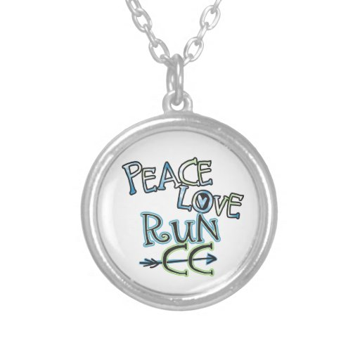 PEACE LOVE RUN CC - Cross Country Pendants