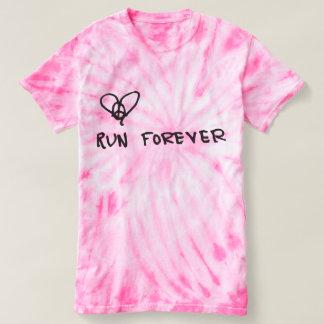 Peace, Love, Run Forever Tie Dye Tee
