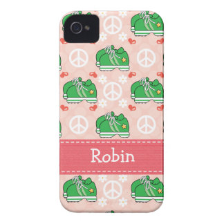 Peace Love Run Sneaker iPhone 4 / 4s Case-Mate Cov