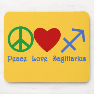Peace Love Sagittarius Astrology Products Mouse Pad