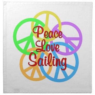 Peace Love Sailing Napkin