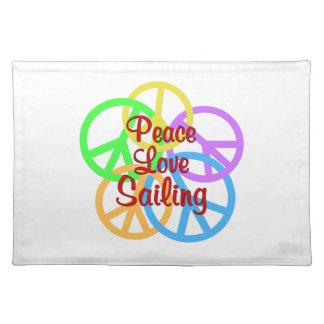 Peace Love Sailing Placemat