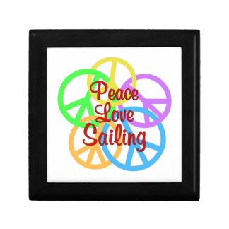 Peace Love Sailing Small Square Gift Box