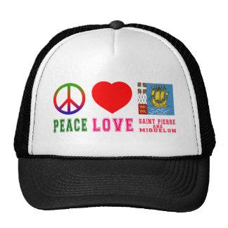 Peace Love Saint pierre and Miquelon Cap