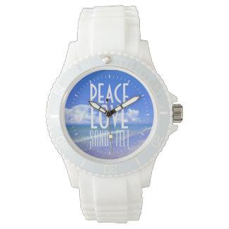 Peace, Love, Sandy Feet Wristwatches