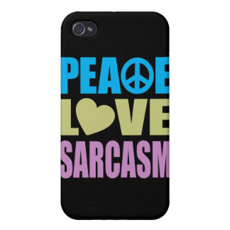 Peace Love Sarcasm Cover For iPhone 4