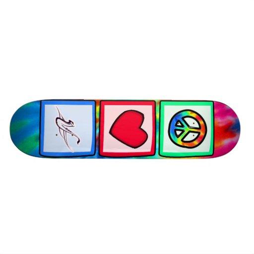 Peace, Love, Saxophones Skate Board Decks