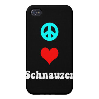 peace love schnauzer iPhone 4/4S case