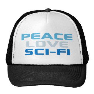 Peace Love Sci-Fi Trucker Hat