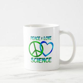 Peace Love SCIENCE Coffee Mug