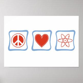 Peace Love Scientists Squares Print