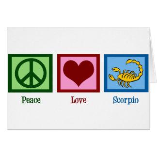 Peace Love Scorpio Card