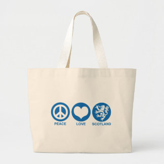 Peace Love Scotland Jumbo Tote Bag