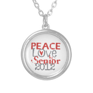 Peace Love Senior 2012 Personalized Necklace