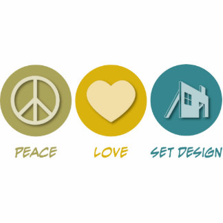 Peace Love Set Design Acrylic Cut Outs